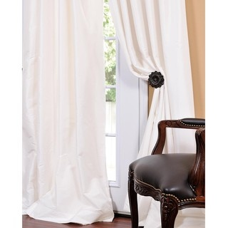@Overstock - A unique sheen and fine weave define this luxurious faux taffeta silk curtain panel. This panel can be hung using rings or the three-inch pole pocket.http://www.overstock.com/Home-Garden/Signature-Cream-Faux-Silk-Taffeta-84-inch-Curtain-Panel/5121593/product.html?CID=214117 $76.49