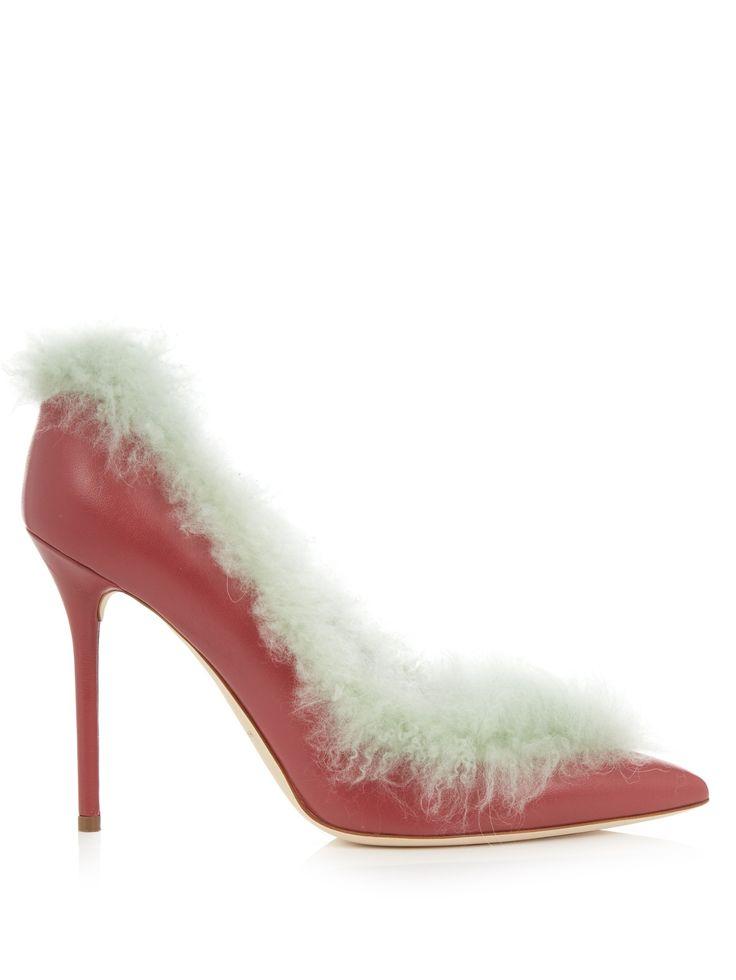 Emmanuelle fur-lined leather pumps | Malone Souliers | MATCHESFASHION.COM US