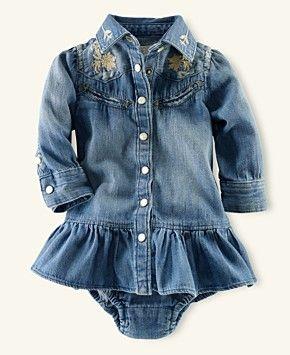 Polo Baby Girl Western Shirtdress = LOVE!