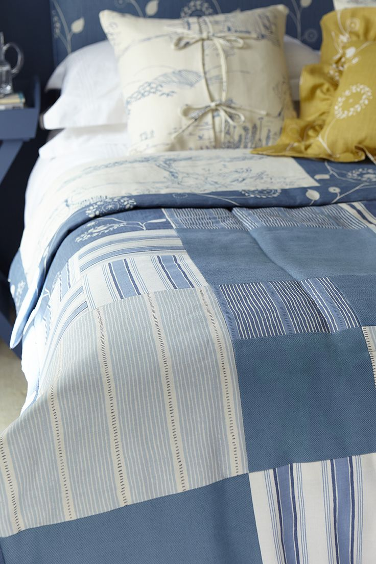 For the first time we are offering traditional patchwork quilts in a selection of our blue or pink fabrics