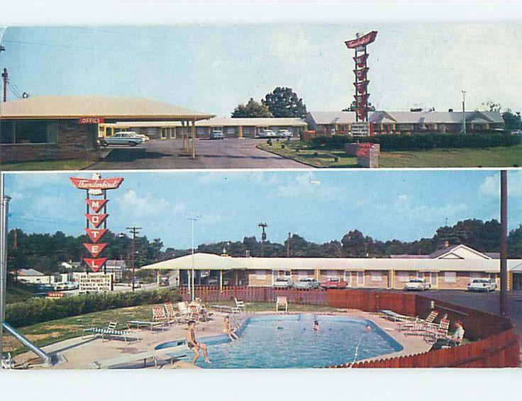 Pre 1980 Thunderbird Motel Asheville North Carolina North Carolina J6439 | eBay