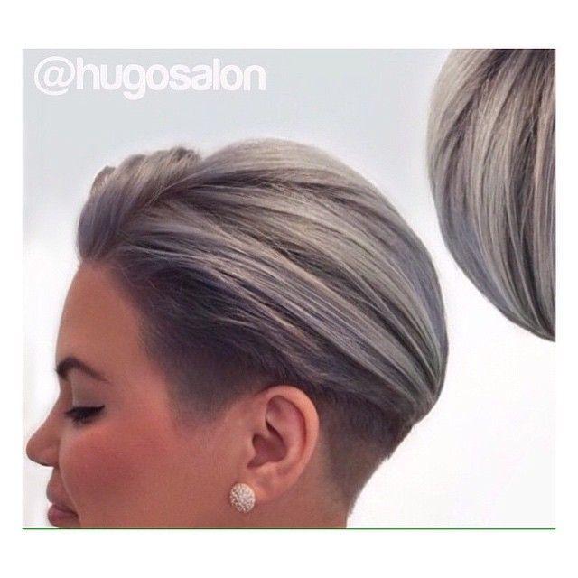 Doe mee met de granny trend en verf je haar grijs! Doe inspiratie op met deze 12 korte, grijze kapsels.. - Kapsels voor haar