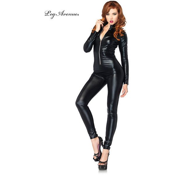 Black Catsuits ($40) ❤ liked on Polyvore featuring costumes, halloween costumes, multicolor, leg avenue halloween costumes, sexy catwoman costume, sexy womens halloween costumes, womens halloween costumes and sexy catwoman halloween costume