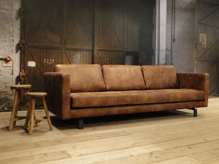 Leren bank Orvieto - ROBUUSTE TAFELS.NL Unieke robuuste maatwerk meubelen!