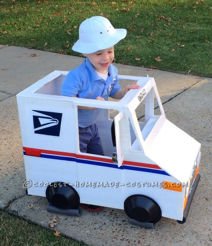 Coolest Mailman and Mail Delivery Truck Costume... Coolest Halloween Costume Contest
