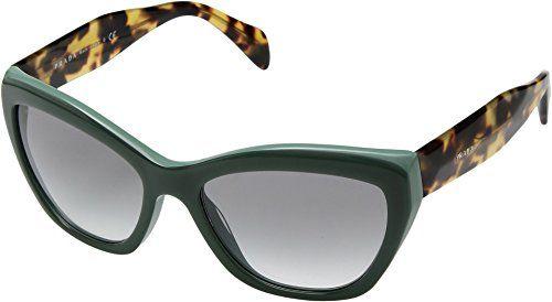 c45a246939d8 Prada Opal Green Cat Eye Sunglasses