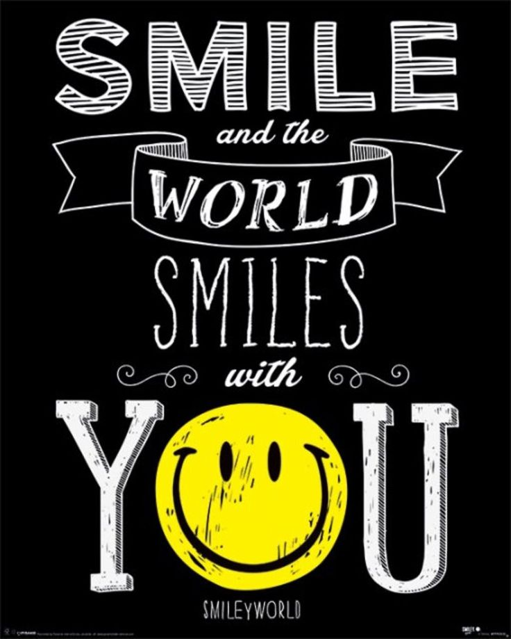 Smile and the World Smiles With You - Official Mini Poster