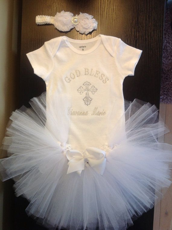 Baby Girl Christening onesie. For my friends popping out little girls- and after party outfit for christening. The pics would be adorable!