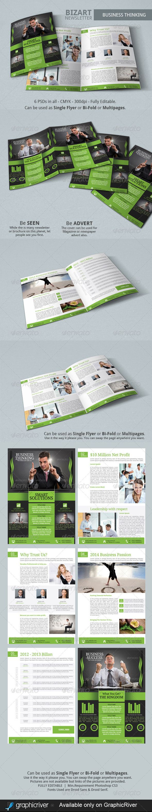 single page newsletter template