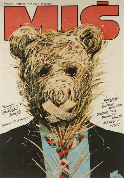 Teddy Bear Mis Pagowski Andrzej Polish Poster