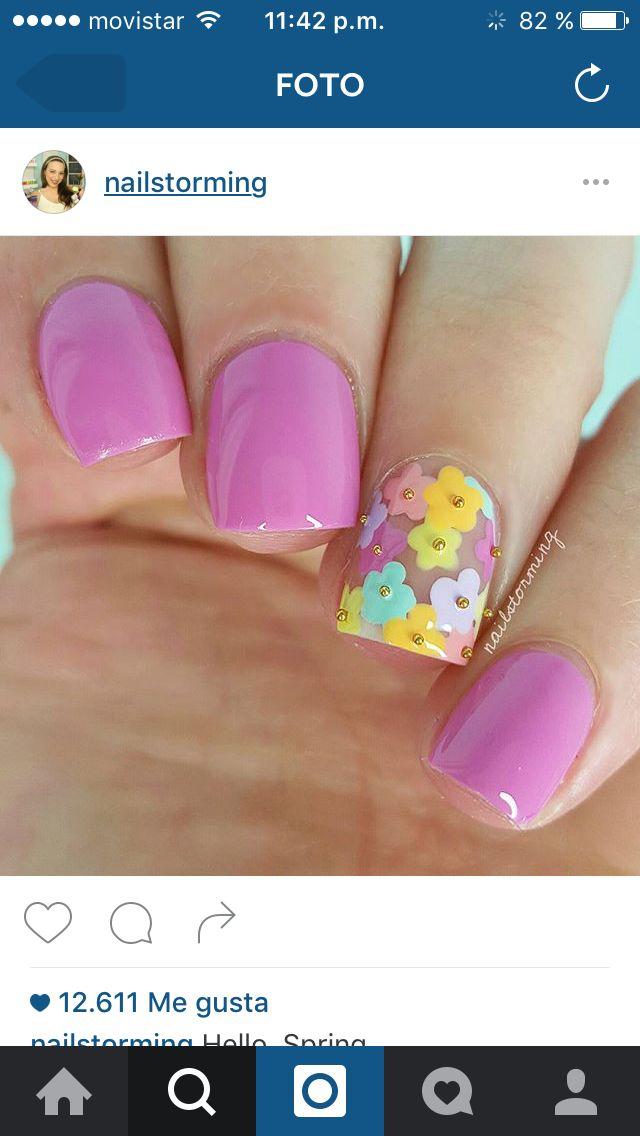 Mejores 374 imágenes de nails pink en Pinterest | Uñas bonitas, Uñas ...