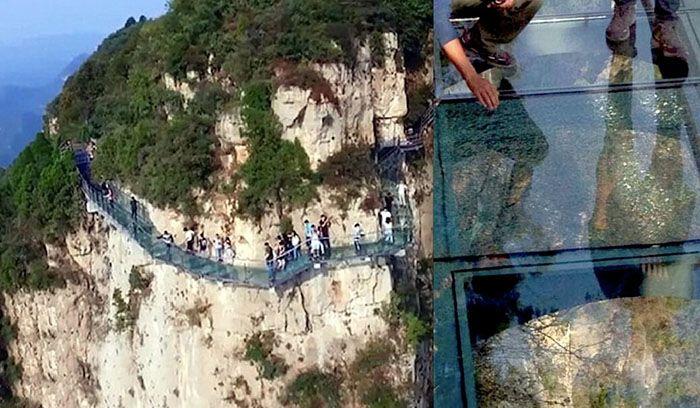 Jambatan Gantung Kaca di China Retak - #jambatan #retak #China - http://www.kenapalah.com/jambatan-gantung-kaca-di-china-retak/