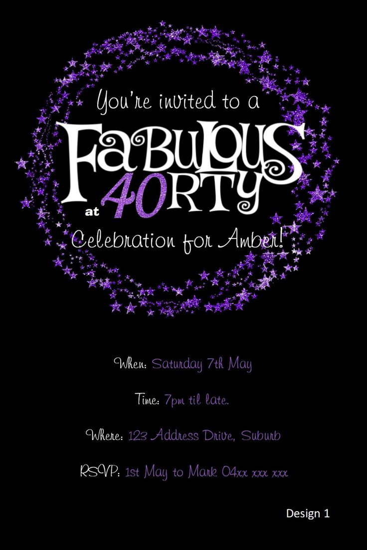 16 best 40th birthday images on Pinterest | 40 years, Birthday party ...