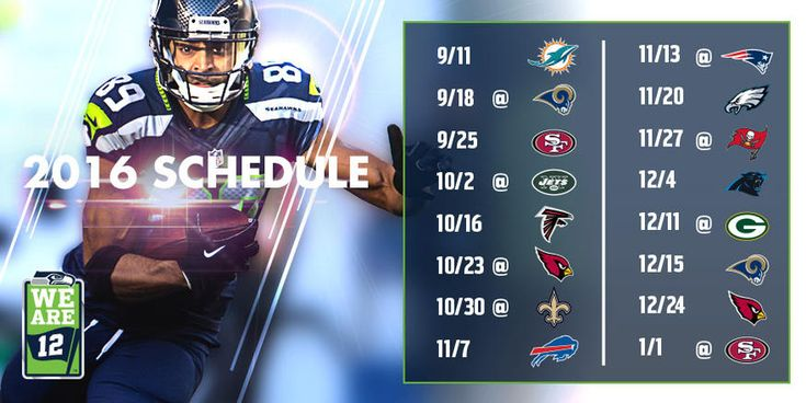 Schedule Download | Seattle Seahawks