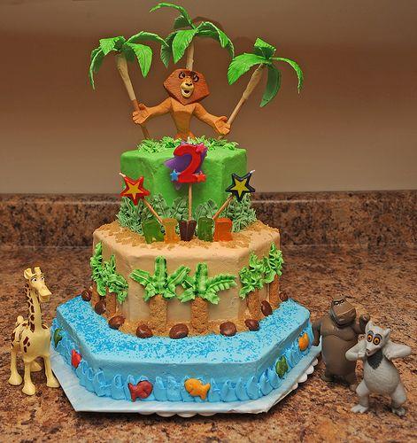 Madagascar cake! I LIKE TO MOVE IT MOVE IT!!