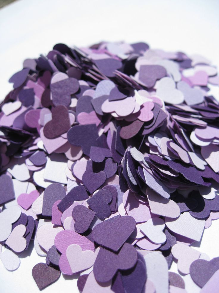 Over 2000 Mini Confetti Hearts. Shades of Purple, Lavender, Iris, Lilac, Royal. Weddings, Showers, Decorations. ANY COLOR Available.. $12.00, via Etsy.