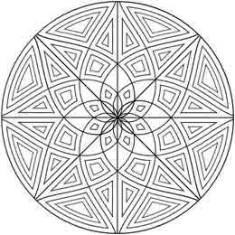 Geometric Circle Coloring Pages
