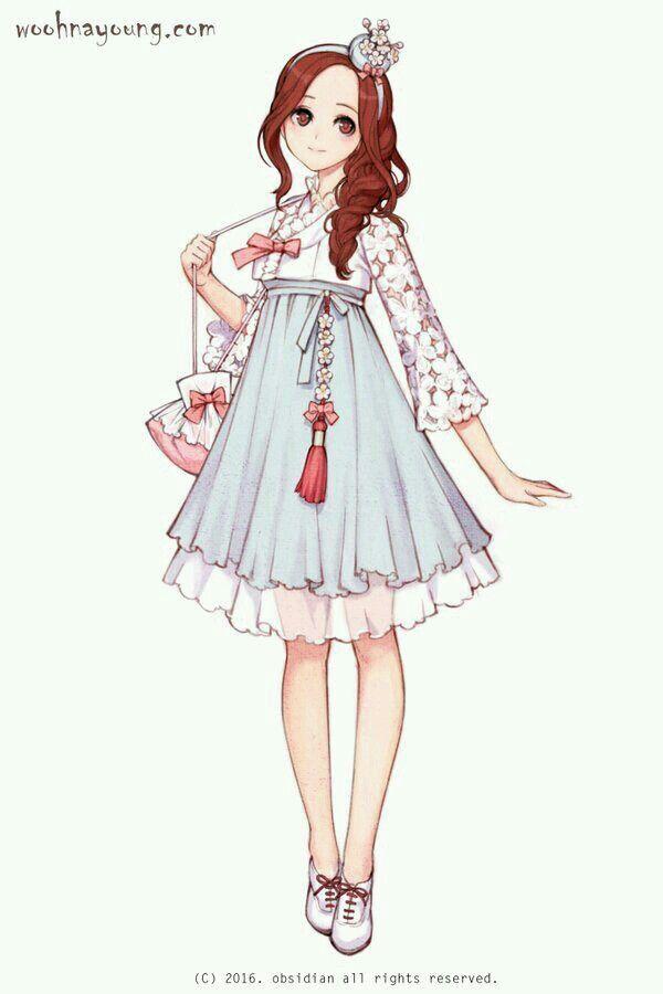 Korean traditional costume Hanbok 한복 입은