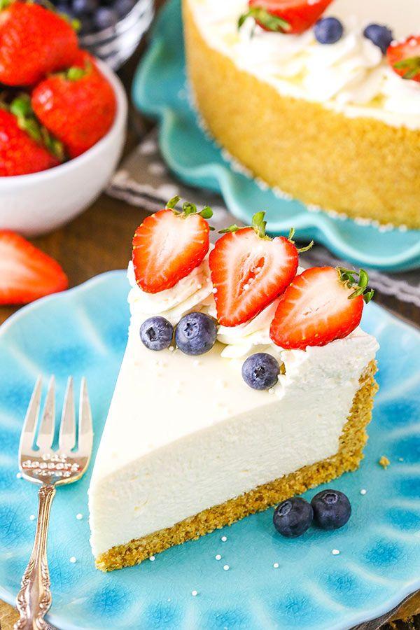The Perfect No Bake Cheesecake Recipe No Fuss Easy Cheesecake Recipe Cheesecake Recipes No Bake Vanilla Cheesecake Best No Bake Cheesecake