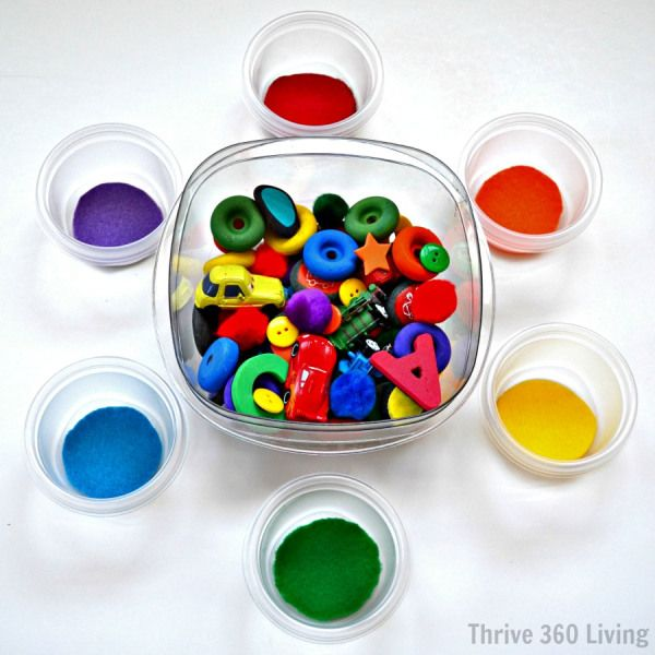 Color Sorting Activity from Thrive 360 Living