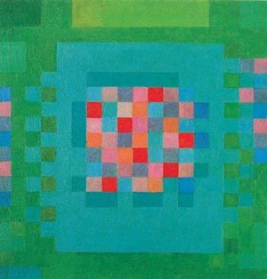 Happy Island, 1965 by Johannes Itten. Abstract Art. abstract. National Museum of Western Art, Tokyo, Japan