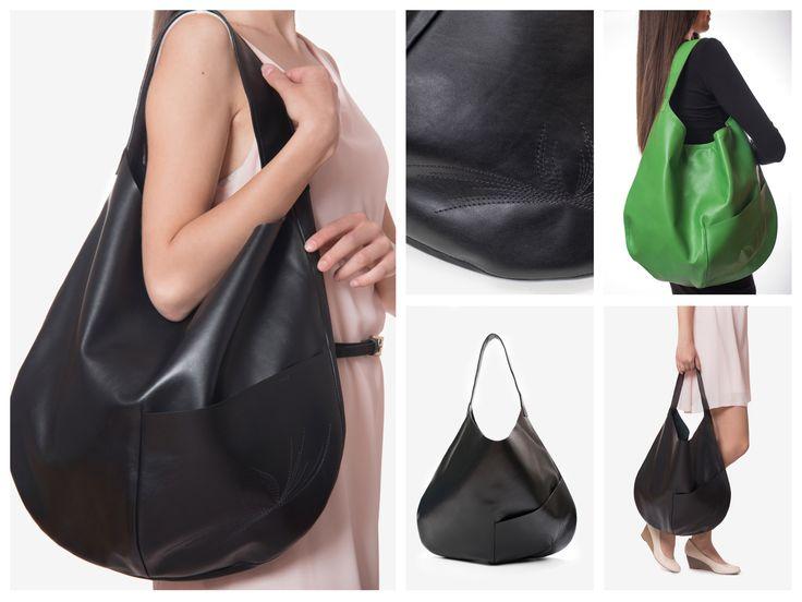 """London"" leather bag"