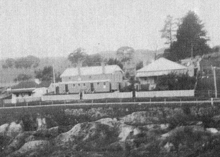 image425  School and residence with Mrs Wiggins Cottage on left
