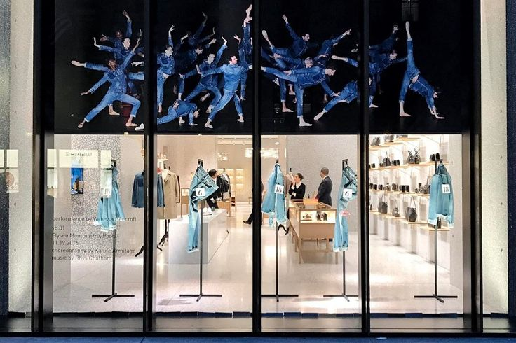 "VALENTINO, 5th Avenue, New York, ""Dancing is Music made Visible"", pinned by Ton van der Veer"
