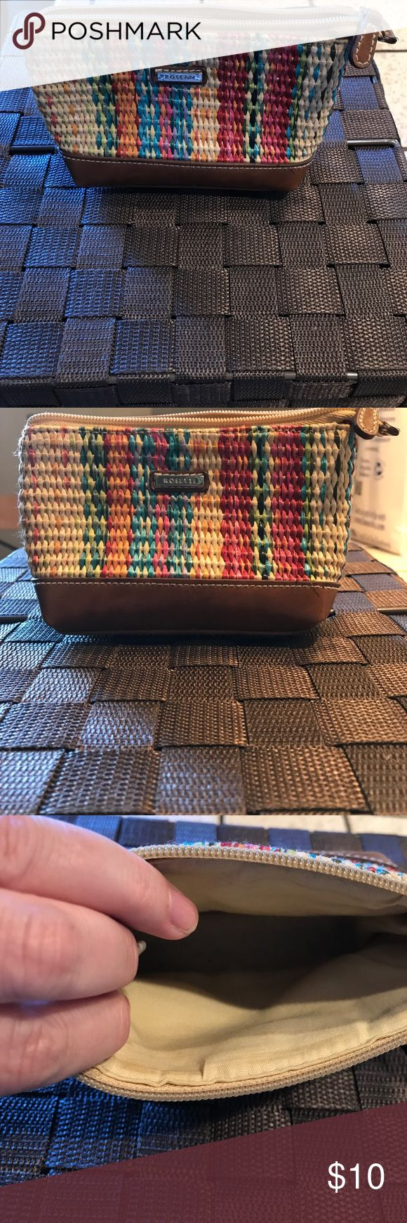 Very cute wicker coin purse! Wicket liners coin purse, colors go with everything! Rosetti Bags Wallets