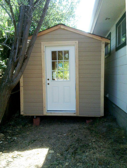 Turning a shed into an office part 1 diy pinterest a for Diy office shed