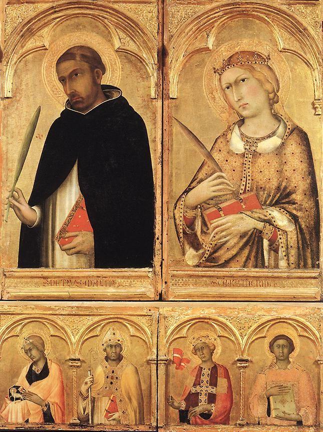 Алтарь Santa Caterina (фрагмент), (Пиза полиптих). 1319 Дерево, темпера. Museo Nazionale ди Сан Маттео, Пиза