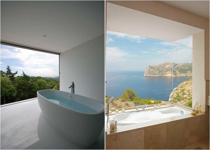 Роскошные ванные с панорамным видом