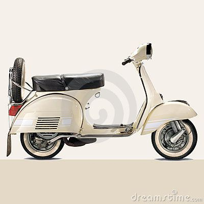 Vintage vespa by Jason Keffert, via Dreamstime