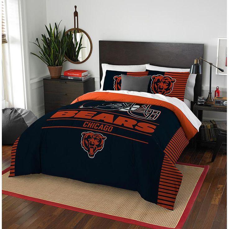 """Chicago Bears Nfl Full Comforter Set (draft Series) (86"""" X 86"""")"""