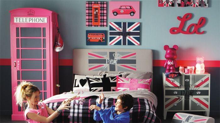 Ideia: quarto com decoração britânica    por Bruna Vieira | Depois dos Quinze       - http://modatrade.com.br/ideia-quarto-com-decora-o-brit-nica