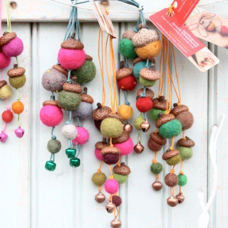 unglaublich Eichelfilz Ornamente Set