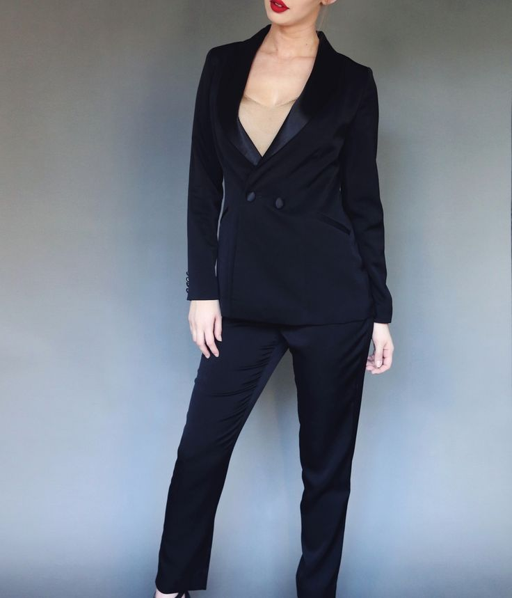 The Shirt Muse Womens Tux