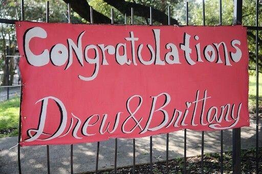 Congratulations Drew & Brittany Brees