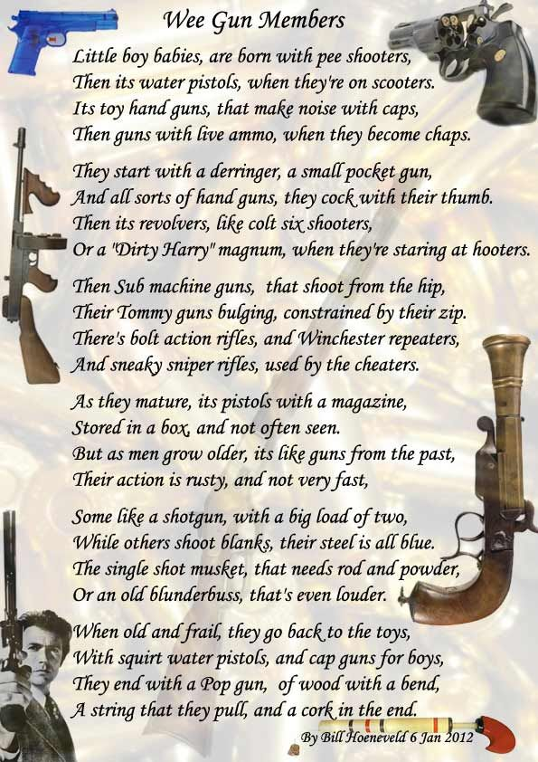 Wee Gun Members - Funny Cute Poems | Funny Poems | Funny ...