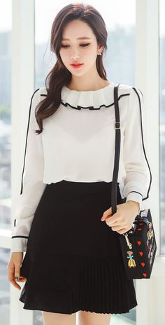 Shirt would be cute with a pencil skirt or dress pants