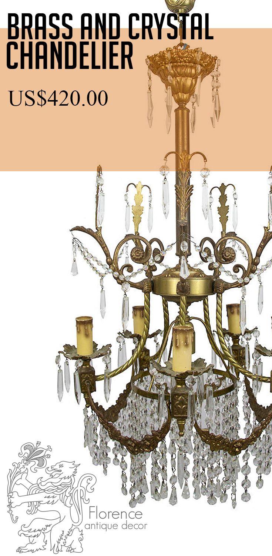 Chandelier Lighting Br Italian Vintage Ceiling Lamp Crystal For Dining Room