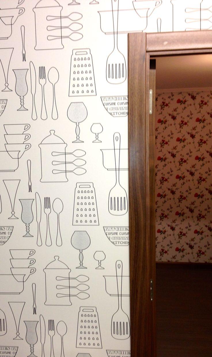 Papel pintado para las cocinas y salitas trabajos for Papel pintado vinilico cocina