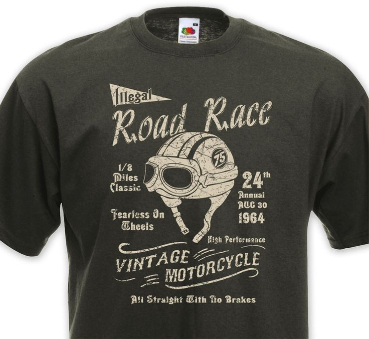 Great T Shirt ROAD RACE   Cafe Racer Racing Vintage Motorcycle Retro Cycle Ducati  BSA
