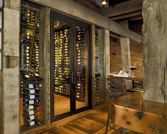 Wine Cellar Glass Countertops Kitchen Design, Pictures, Remodel, Decor and Ideas