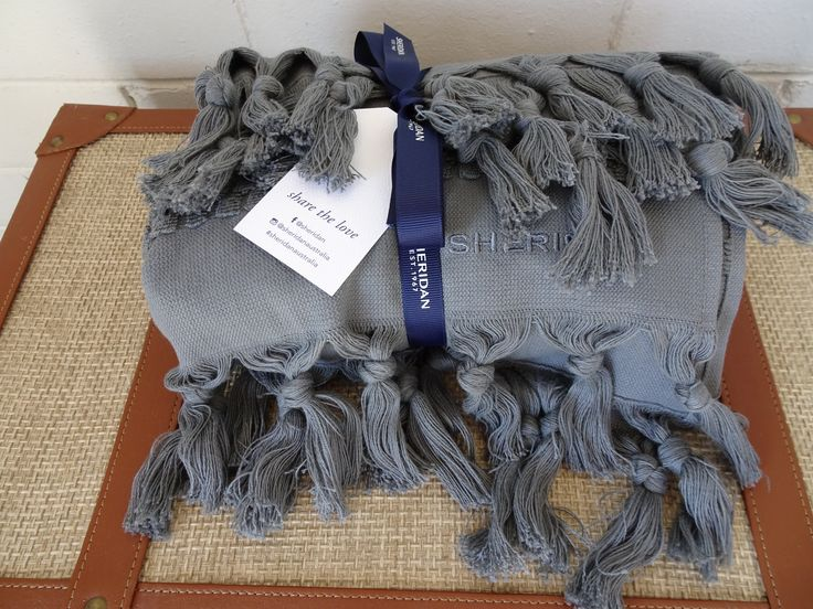 Sheridan Stevie 100 per cent Turkish cotton towels with tassels. #sheridanaustralia