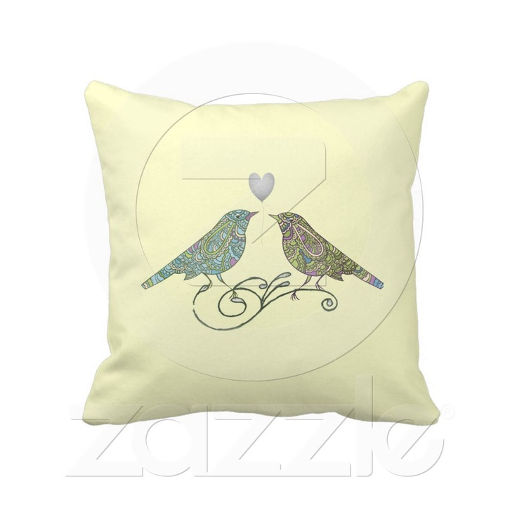 Bird Themed Throw Pillows : 83 best images about Wedding Gift Ideas for The Happy Couple on Pinterest Vintage inspired ...