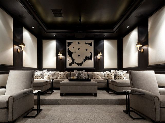 Media Room By Eva Quateman Interiors Find This Pin And More On Ultimate Home Theater Designs