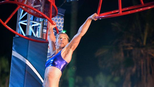 Jessie Graff - what an inspiration! Fourth woman up the Warped Wall, and 6th fastest time of the night!