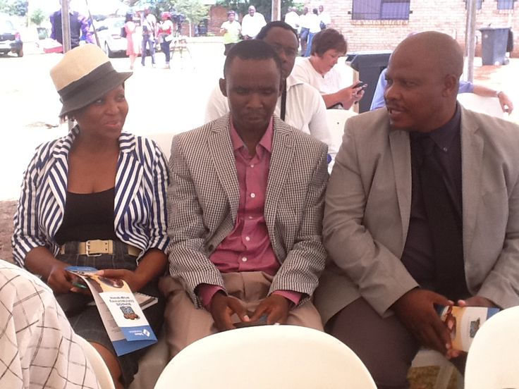My Supervisor- Mr. Ngwenya(right), Mr. Tshilidzi -colleague and Ms Phaleng(communication) attended the event.
