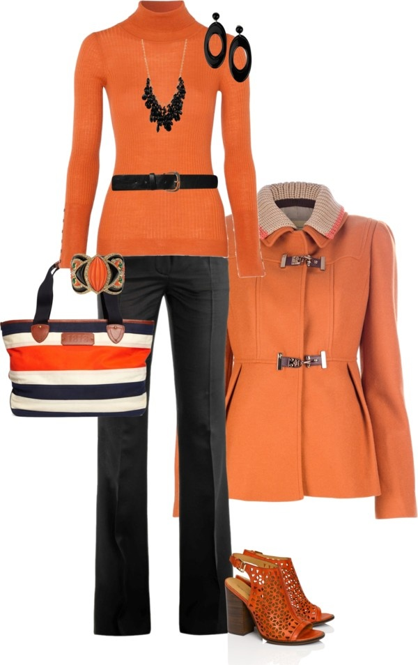 Like this color orange and the bag is fun